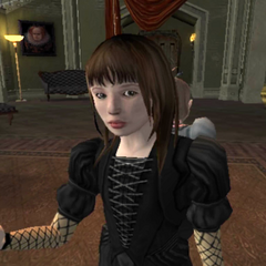 Violet in Olaf's foyer (console version).