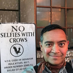 Hector taking a selfie.