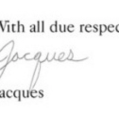 Jacques Snicket's signature.