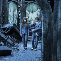 The Baudelaires revisit their mansion via a passageway.