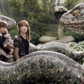 Snake sculptures.