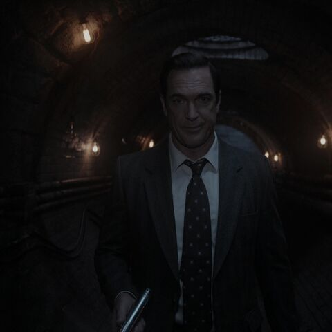 Lemony Snicket in a tunnel.