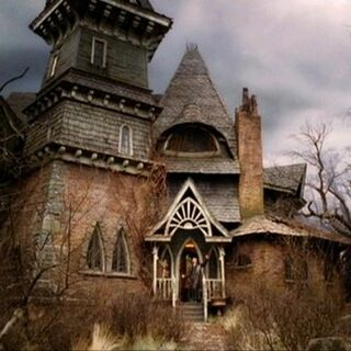 Count Olaf's house as depicted in the film