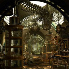 Reptile Room concept art by Nathan Schroeder.