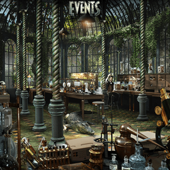 Concept art of the Reptile Room.