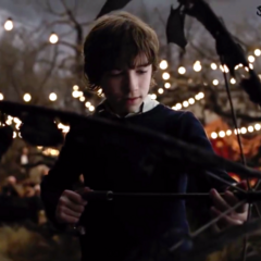 Klaus finds an umbrella in the film.