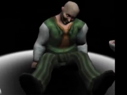 The Bald man defeated