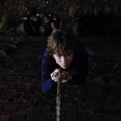 Klaus ascending Olaf's tower.