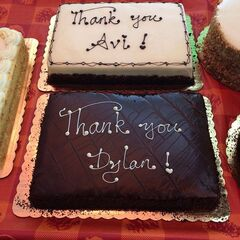 Thank you cakes for Avi and Dylan