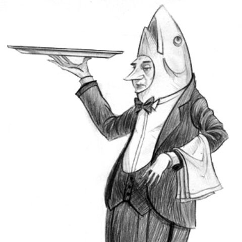 A fishy waiter.