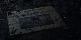 Newspaper Baudelaire Mansion