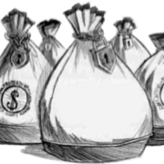 Money bags stolen by Mrs. Bass, possibly the Baudelaire fortune.