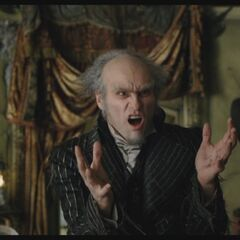 Count Olaf meeting the Baudelaire orphans.