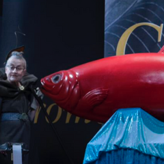 One woman with a red herring.