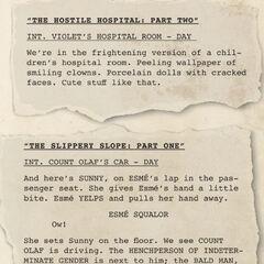 Script Excerpts.