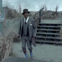 Mr. Poe at Briny Beach.