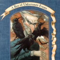 Count Olaf on the cover of <i>The Dilemma Deepens</i>.
