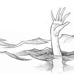 Aunt Josephine drowning.