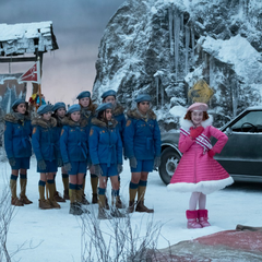 Carmelita with the Snow Scouts.