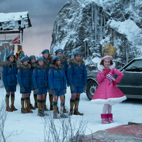 Carmelita and the Snow Scouts reach Mount Fraught.