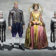 Even bad actors require great costumes, as evidenced in this illustration for Count Olaf's troupe performing Hamlet.