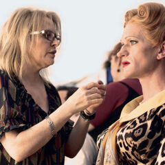 Make-up Head Rita Ciccozzi helps transform Neil Patrick Harris into Shirley St. Ives in