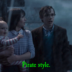 Pirate style.