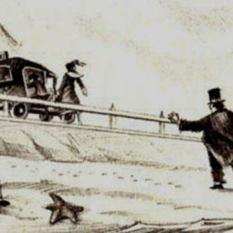 Violet leaves Mr. Poe at Briny Beach