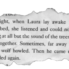Laura Ingalls Wilder, <i>Little House in the Big Woods</i> (Harper Trophy, 1994), pg.3, <b>Found Tangled in the branches of <a href=