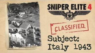 """Sniper Elite 4 - """"Italy 1943"""" Story Trailer"""