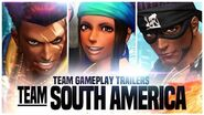 "KOF XIV - Team Gameplay Trailer 8 ""SOUTH AMERICA"""