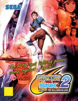 Capcom vs SNK 2 - Mark of the Millennium 2001 poster