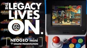 NEOGEO mini Online presentation THE LEGACY LIVES ON.