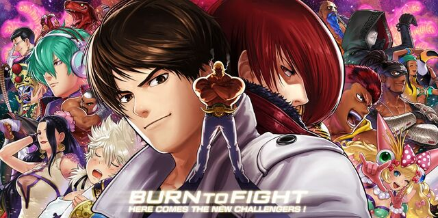 File:Kof XIV-kyo and iori with newcomers.jpg