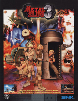 Metal Slug 3 Arcade Flyer