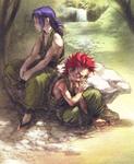 Young Kazuki and Sogetsu