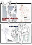 KOF98 Women and Kim ConceptArt