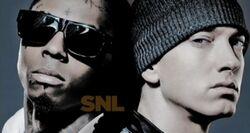 SNL Lil Wayne and Eminem