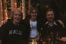 From left to right- Fred Wolf, Dana Carvey, and David Spade