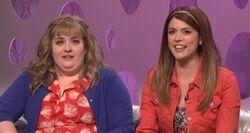SNL Aidy Bryant - Morgan; Cecily Strong - Kyra