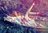 Lily Cole by Michael Labica & Sandrine Dulermo (Lily In The Sky With Diamonds - Plastic Dreams 6 Fa