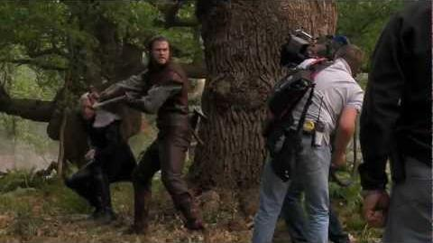 "Snow White and the Huntsman On the Set - ""Huntsman Fights Finn"""