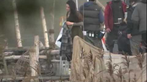 Kristen Stewart On set Snow White And the Huntsman Nov 10th (HD)