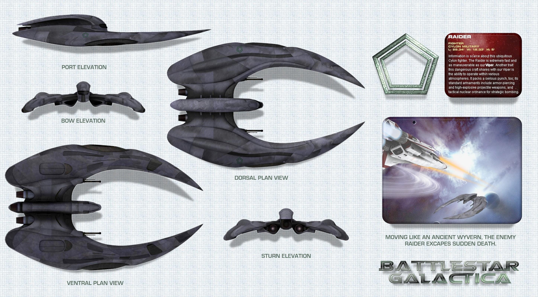 Collectibles Energetic Battlestar Galactica Exclusive Cylon Raider