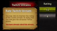 Twitch rate
