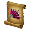 Good-HeroGearRecipe-KnifeNinja-FannedRetreat-LongerRangeNarrowerCone-Icon