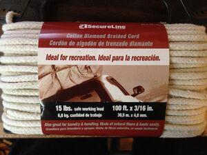 Secureline diamond braid cord label small