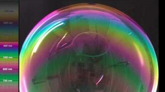 DRAFT time lapse of thick-filmed bubble as it thins