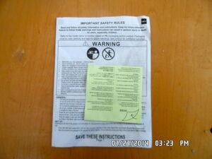 Rf trmoat 16 INSTRUCTIONS AND PATCH