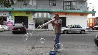 "Bubble--giant 3"" diameter PVC ""straw""-1"